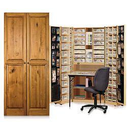 Workbox Knotty Alder Sbooking And Office Desk Armoire