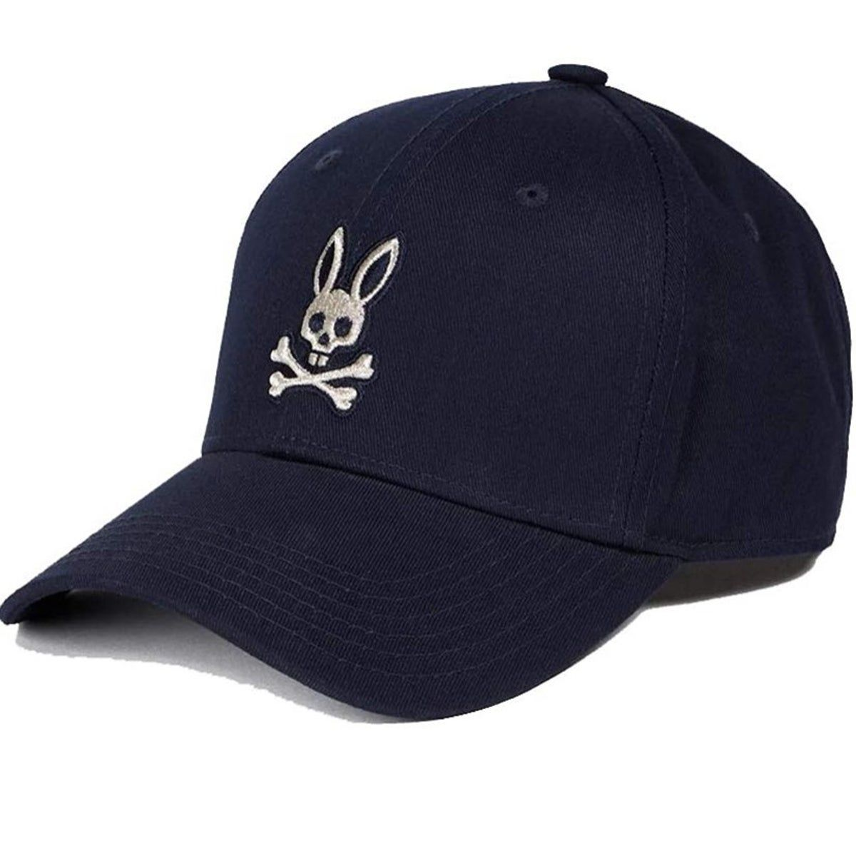 Psycho Bunny Men/'s Embroidered Strapback Hat Sports Cotton Twill Baseball Cap