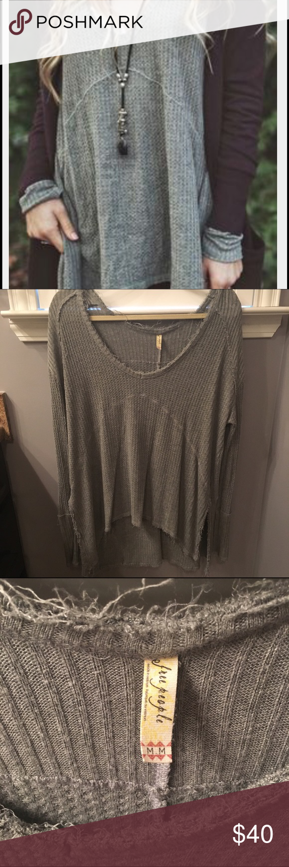 Free people shirt Oversized comfy sweater. Flowy. Free People Tops