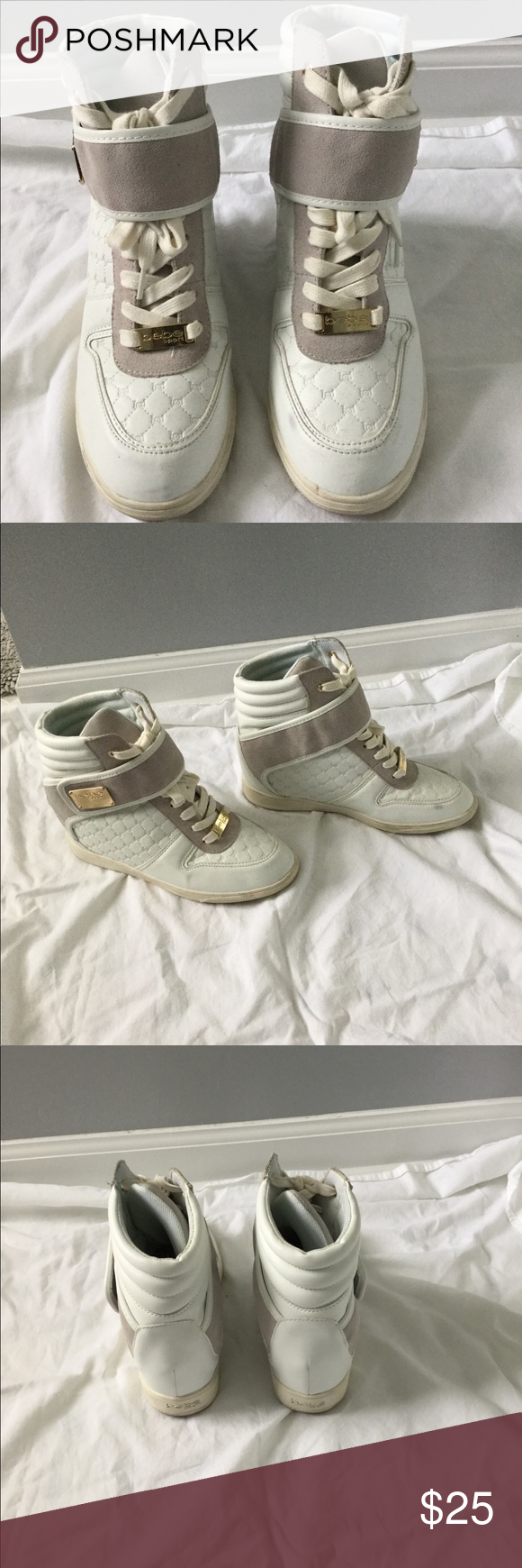 38a026e3f9e Bebe Colby Wedge Sneakers Keep your look fresh under the cloudy days in  this Bebe Colby Wedge Sneaker. These are soooo comfortable! bebe Shoes  Sneakers