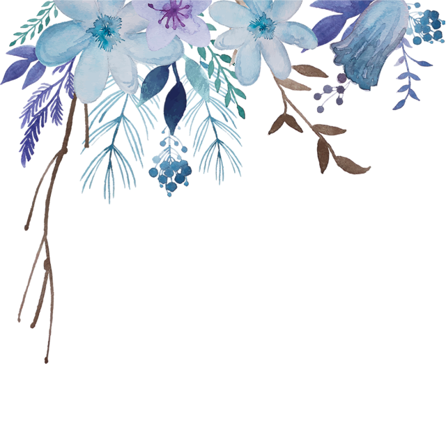 Flowers And Leaves In 2019 Watercolor Flower Background