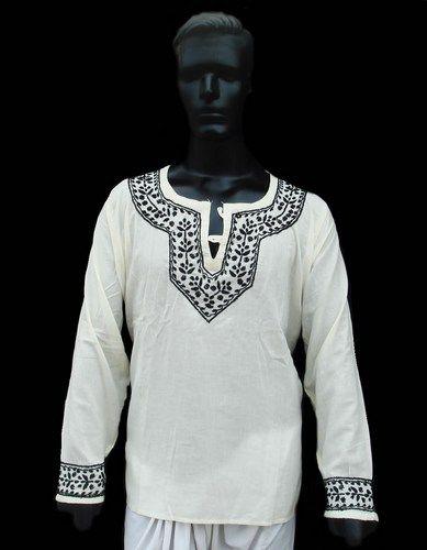 7efd66588b6cf MENS Ivory Kurta Ethnic Designer Wear Indian Gents 46