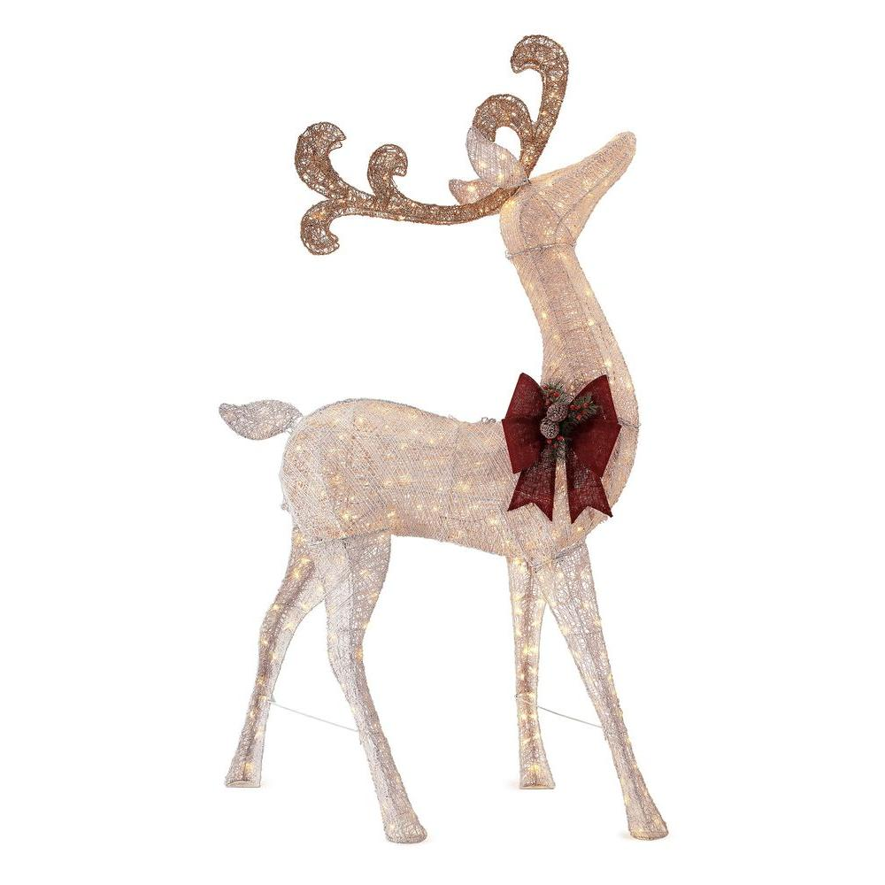91 in. LED Lighted Standing Deer | Products | Pinterest | Holidays ...