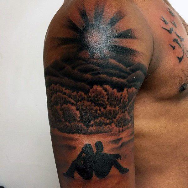 Top 63 Sun Tattoo Ideas 2021 Inspiration Guide Sun Tattoo Designs Sunset Tattoos Sun Tattoo