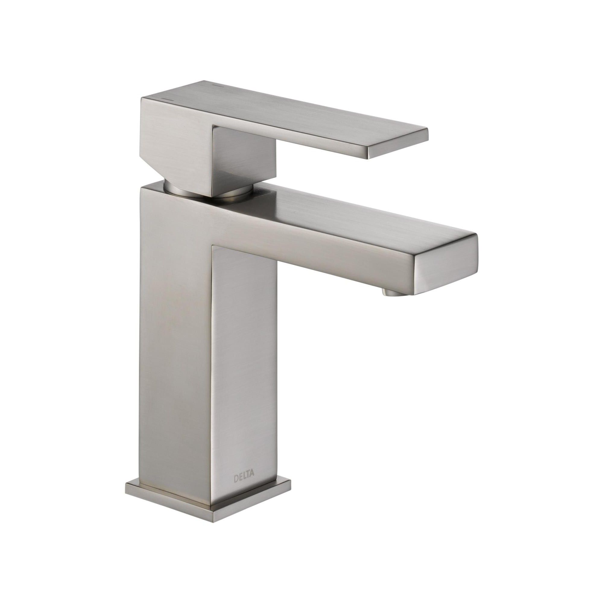 Delta Faucet 567lf Pp Angular Modern Single Hole Bathroom Faucet