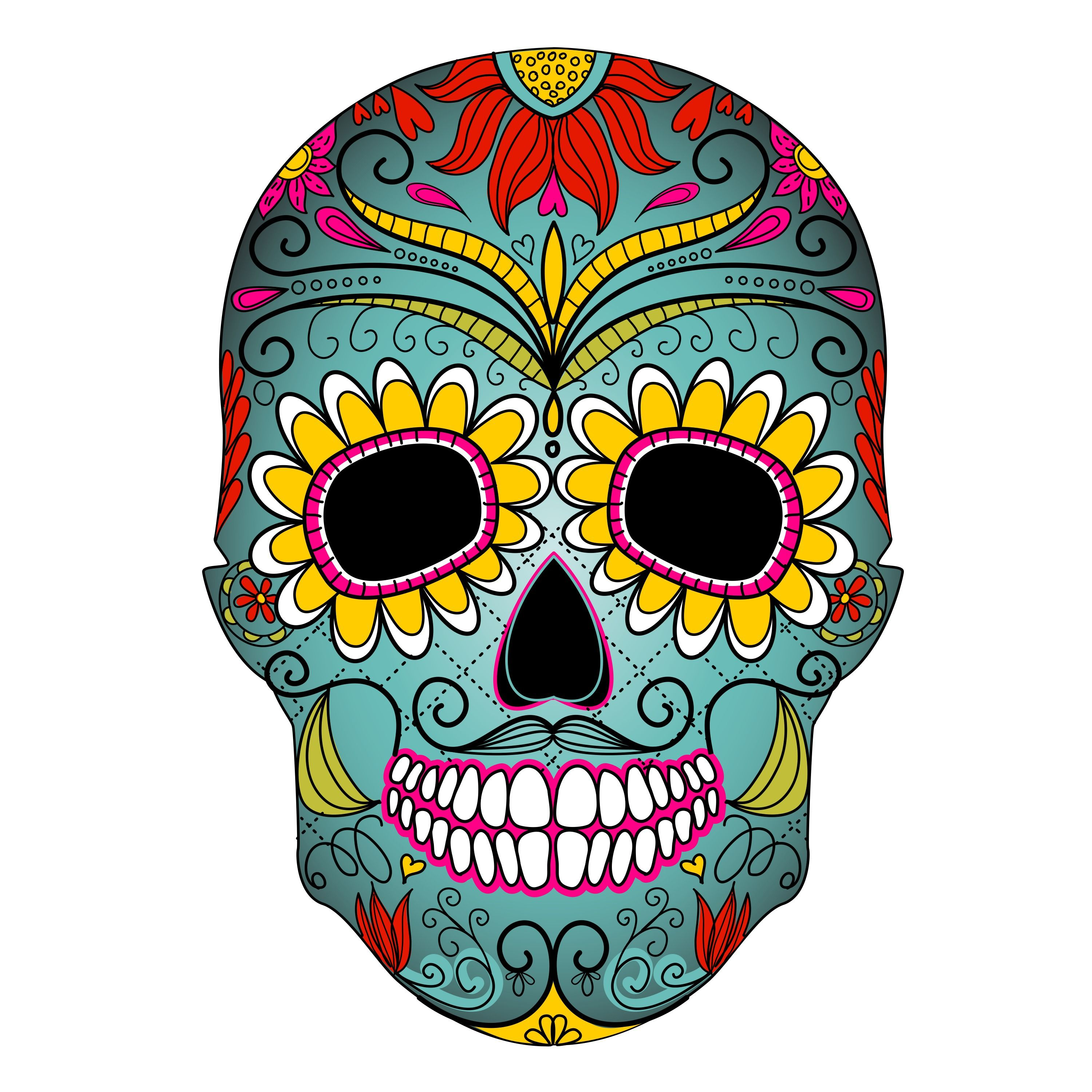 day of the dead clipart clipart kid [ 3000 x 3000 Pixel ]