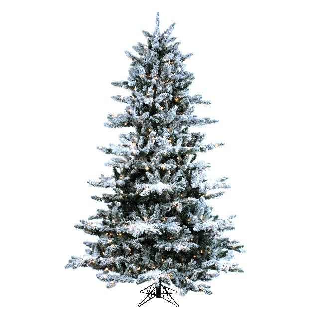 Designer 39 S Excellence 60 In X 7 1 X2f 2 Ft Artic Flocked Artificial Tree With 600 Clear Lights Artificial Tree Faux Christmas Trees Tree