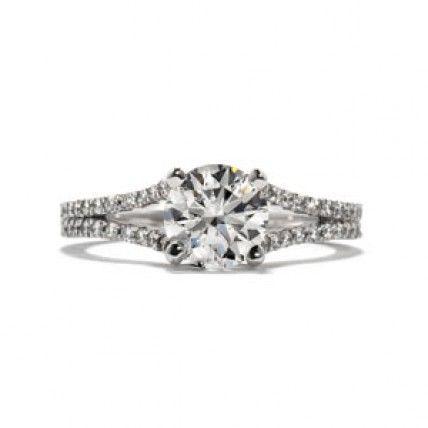 Hearts On Fire: Felicity Split Shank Diamond Engagement Ring - $5430