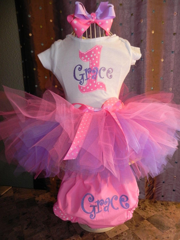 01276282eb Girls 1st Birthday Creamsicle Pink and Yellow Polka Dot Tutu Set | Bella's First  Birthday Party Ideas | First birthday tutu, 1st birthday girls, ...
