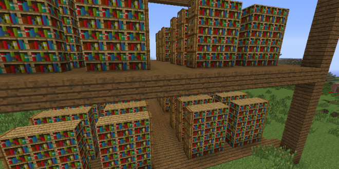 Huge Book Shelves   Library   Minecraft amazing builds ...