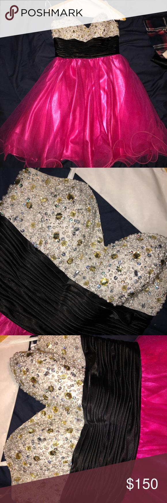 Pearl and pink homecomingsemi formal dress semi formal dresses