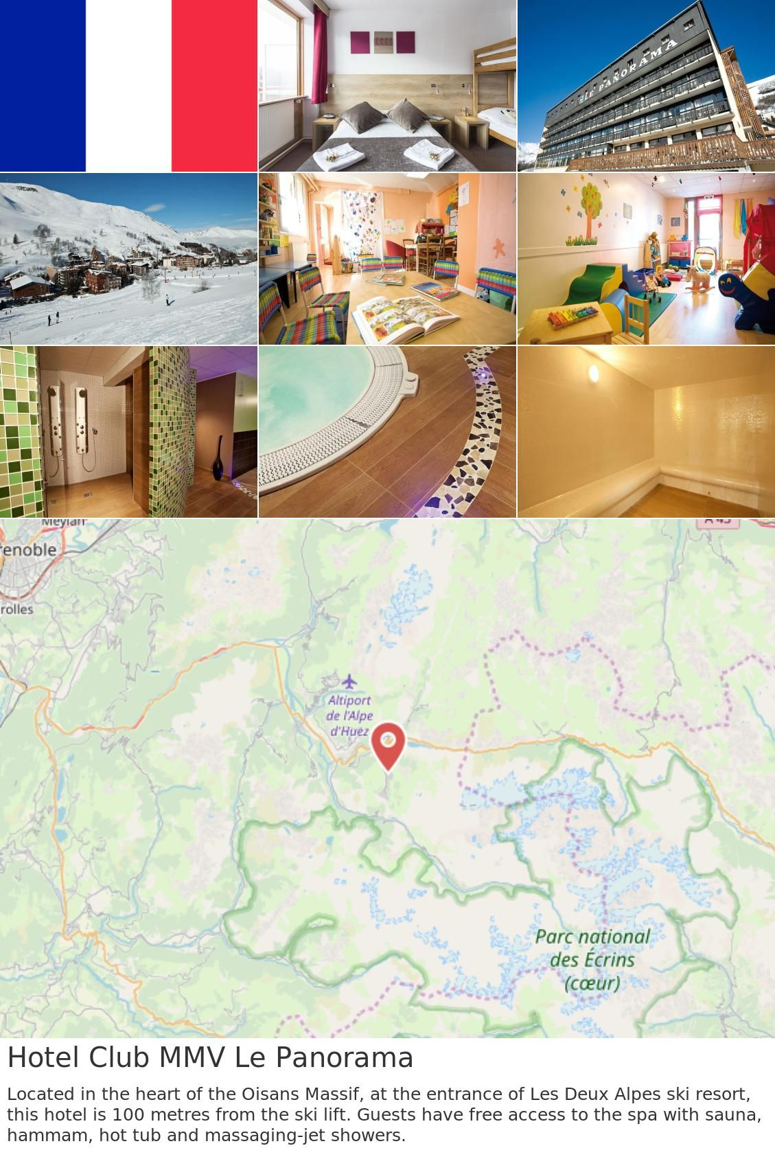 Europe France Les Deux Alpes Hotel Club Mmv Le Panorama Located