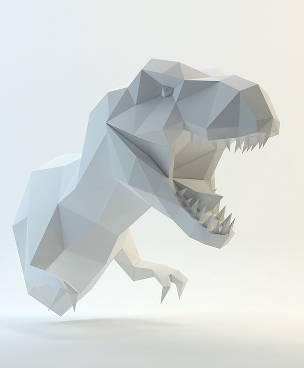 2d pattern paper trex my low poly art pinterest