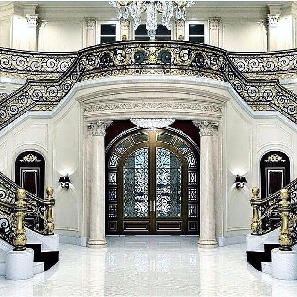 Best 25 Classic And Beautiful Double Sided Staircase Design 640 x 480