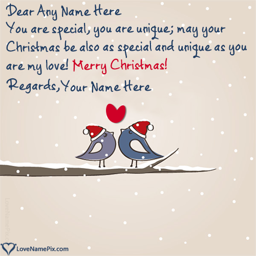 Write Name On Christmas Greeting Messages For Lover Picture Merry Christmas Greetings Message Christmas Greetings Messages Christmas Wishes Greetings