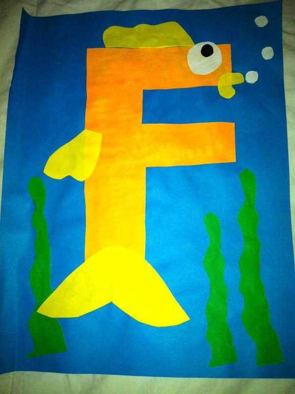 letters, kindergarten, preschool, alphabet craft, f fish craft