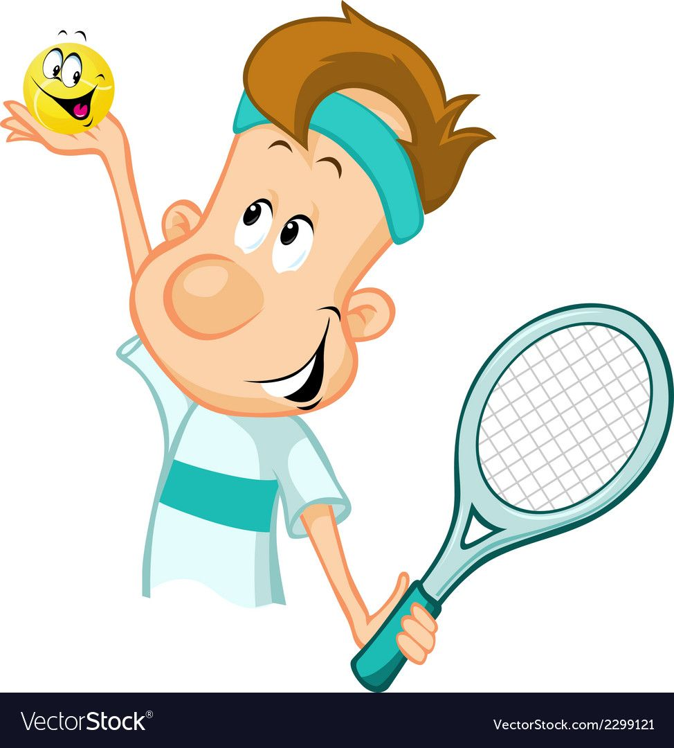 Tennis Player Holding A Tennis Ball And Racket Vector Image On Vectorstock Tennis Tennis Players Tennis Ball