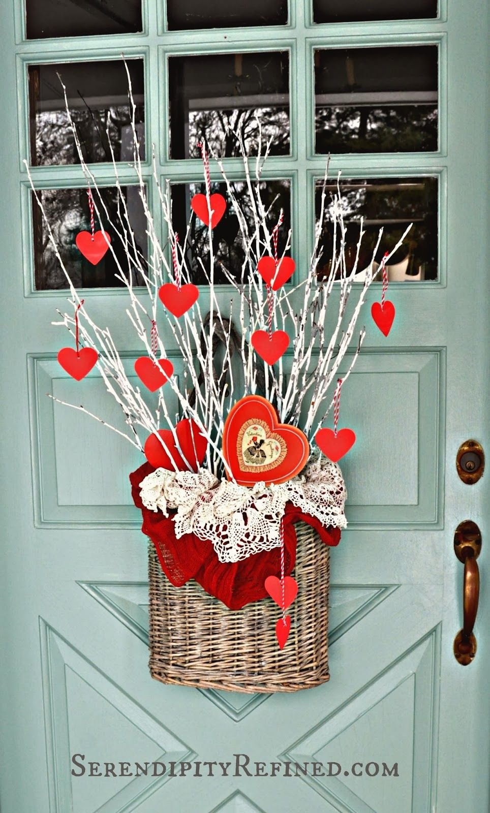 Serendipity Refined Simple Diy Valentines Day Door Decor Diy Valentine S Day Decorations Valentine Door Decorations Valentines Diy