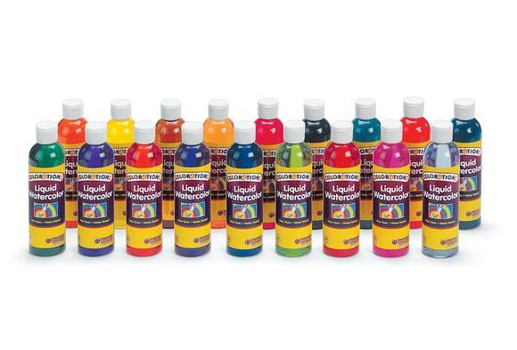 Colorations Liquid Watercolor Paint 8 Oz Liquid Watercolor