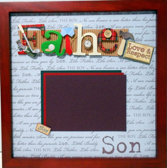 Like Father Like Son Shadow Box By Theshadowbox On Etsy 4000
