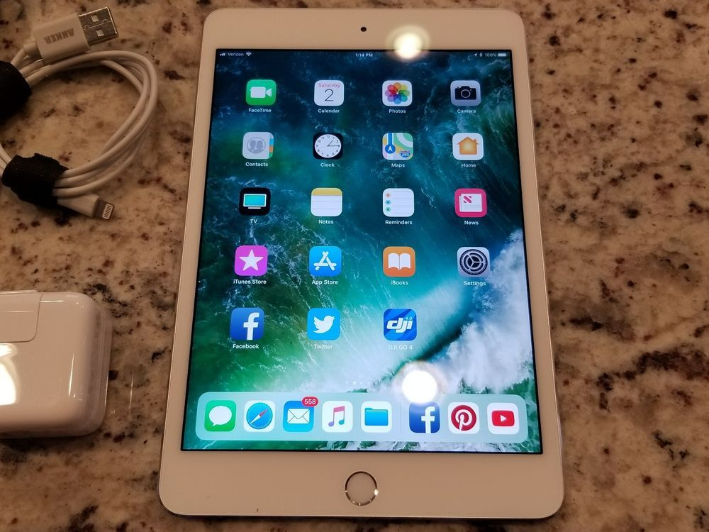Apple Ipad Mini 4 64gb Wifi Unlocked 4g Lte Cellular 7 9 Touch Id White W Bonus Apple Apple Ipad Mini New Apple Ipad Ipad Mini