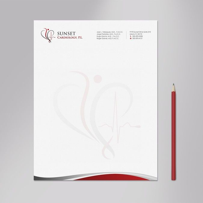 Create A Professional Letterhead For A Cardiology Practice By