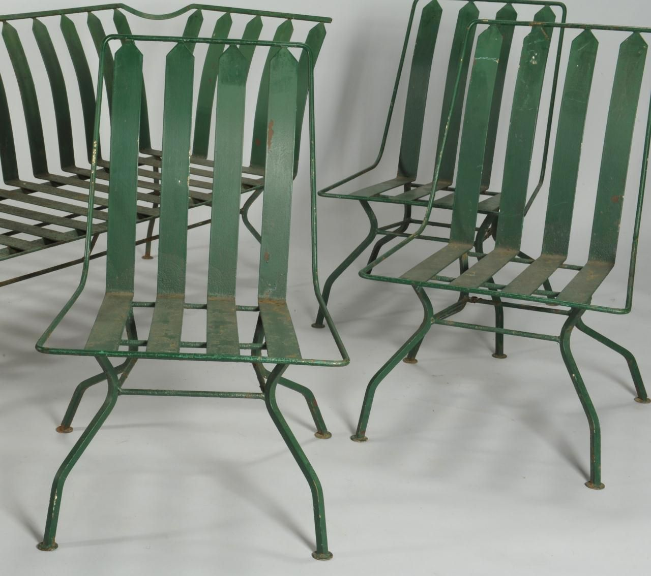 Art Deco Outdoor Furniture Lot 589 French Patio Settee U0026amp 3 Chairs
