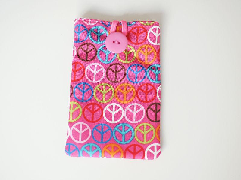 """Handy-Tasche - Smartphone / Kamera -""""NEON-Peace"""" von Williamson-Design auf DaWanda.com"""