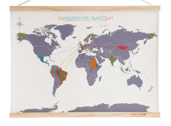 Personalised cross stitch world map unique travel journal gift personalised cross stitch world map unique travel journal gift idea moxon london gumiabroncs Gallery