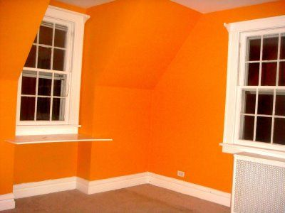 bedroom colors orange