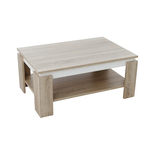 Lovelace Coffee Table With Storage 17 Stories Colour Sonoma Oak