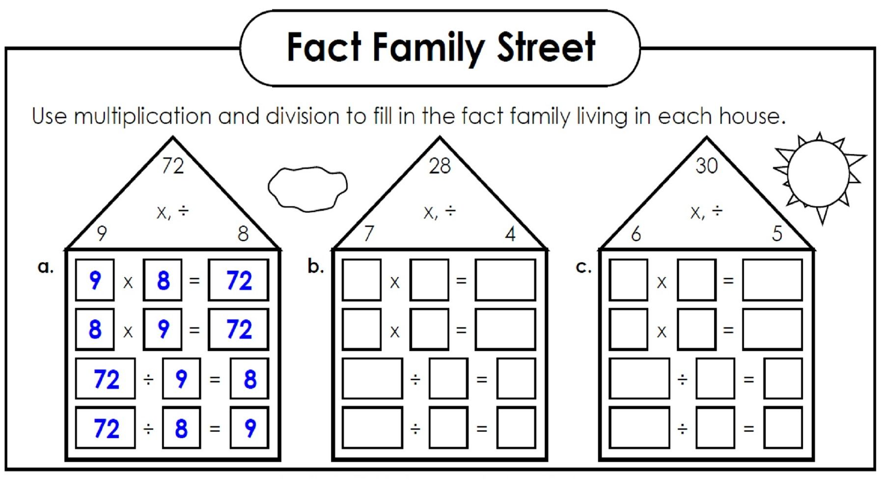 Family Facts Math Easy With Images