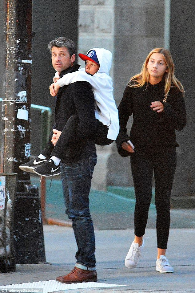 Patrick Dempsey Spends The Evening With His Children Patrick