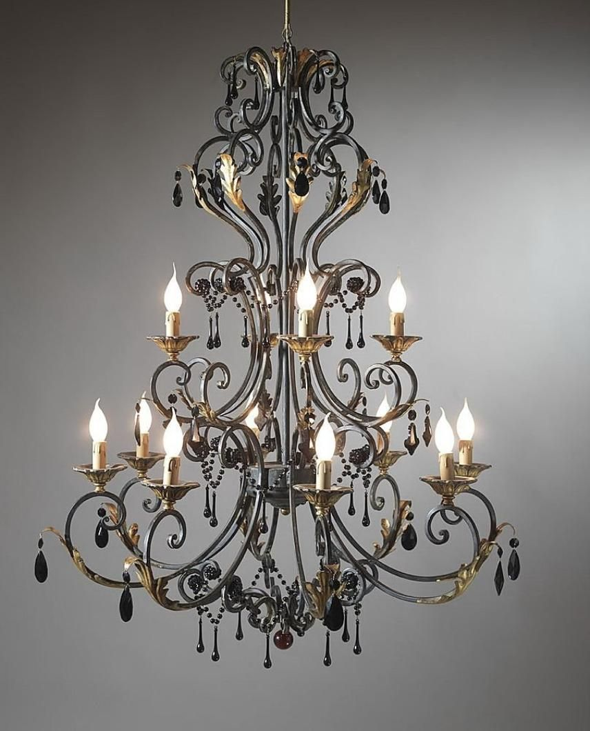 chandelier large rod track and iron electric wrought crystal extra rustic candle chandeliers black lighting