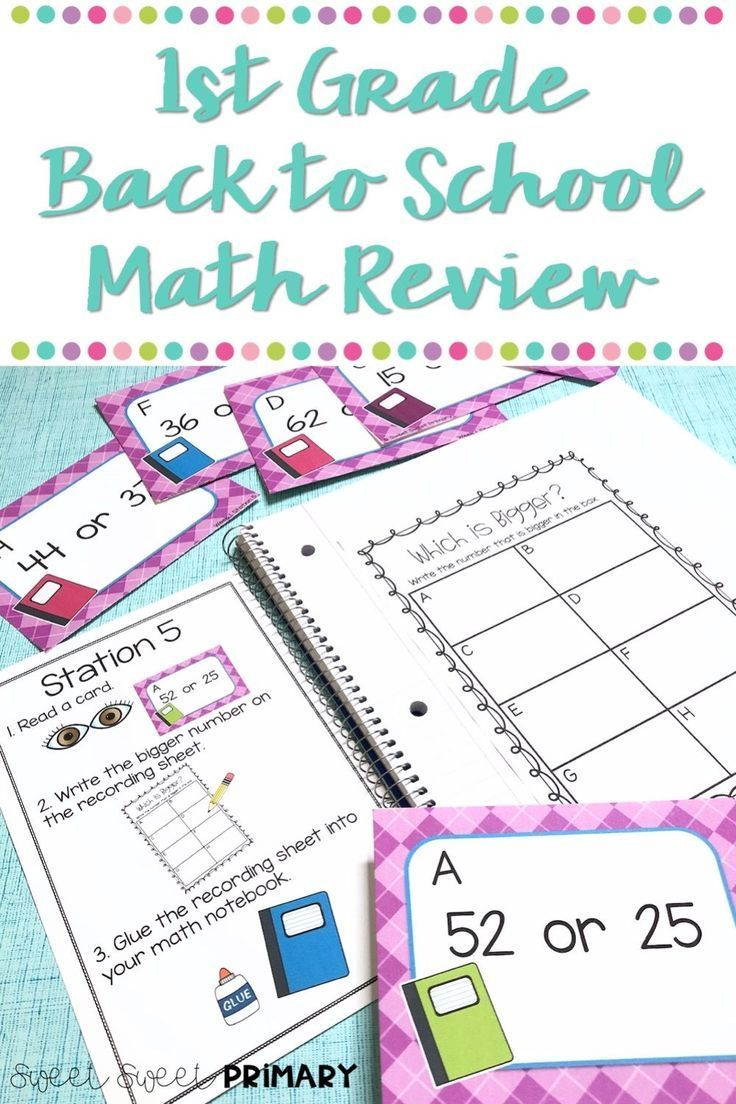 Get your first grade students back into the swing of