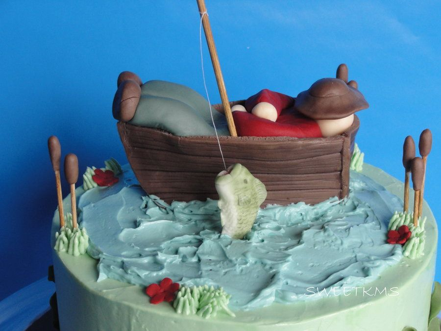 Cute Fishing Cake Cake Ideas Pinterest Fish Cake
