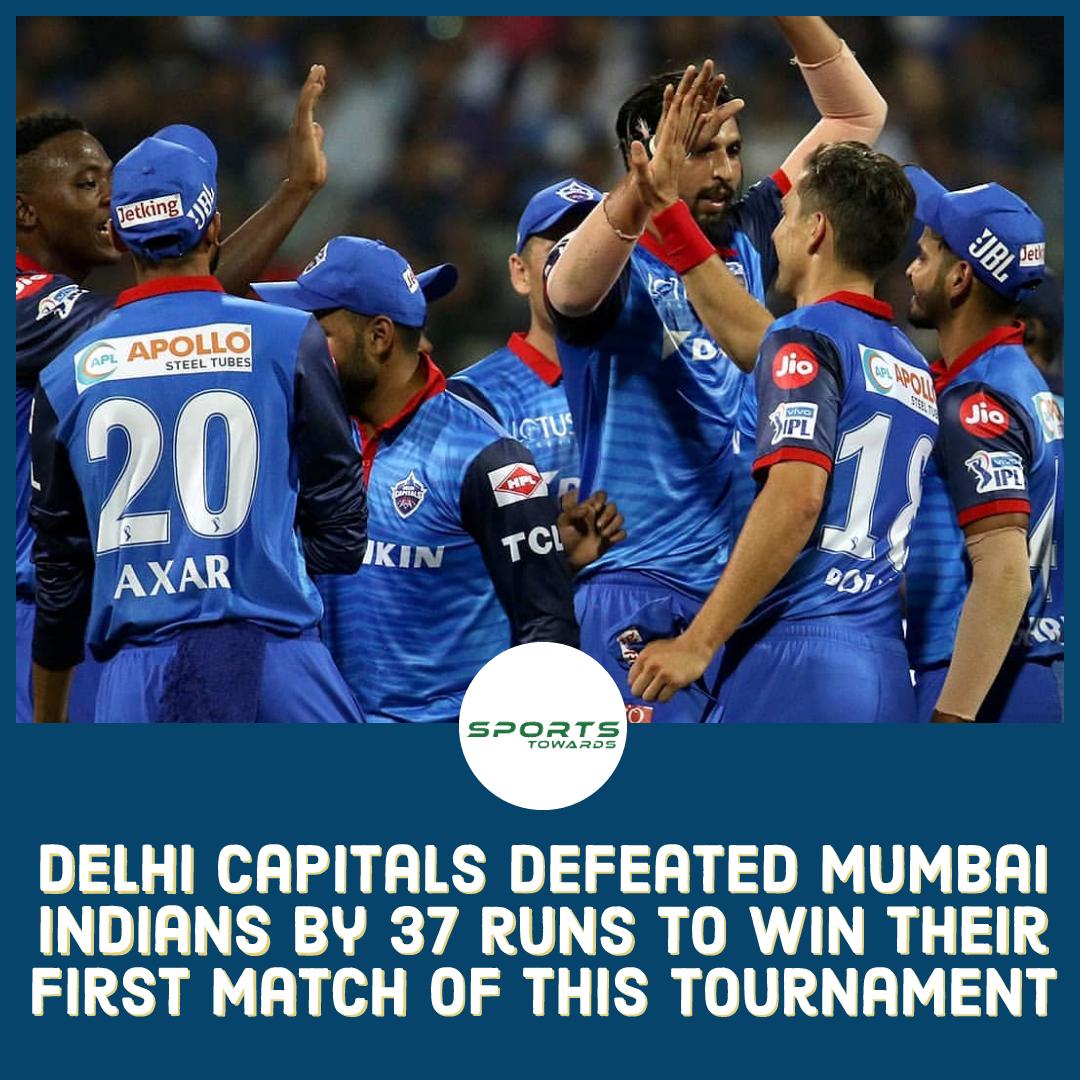 Delhi Capitals start their IPL Indian Premier League