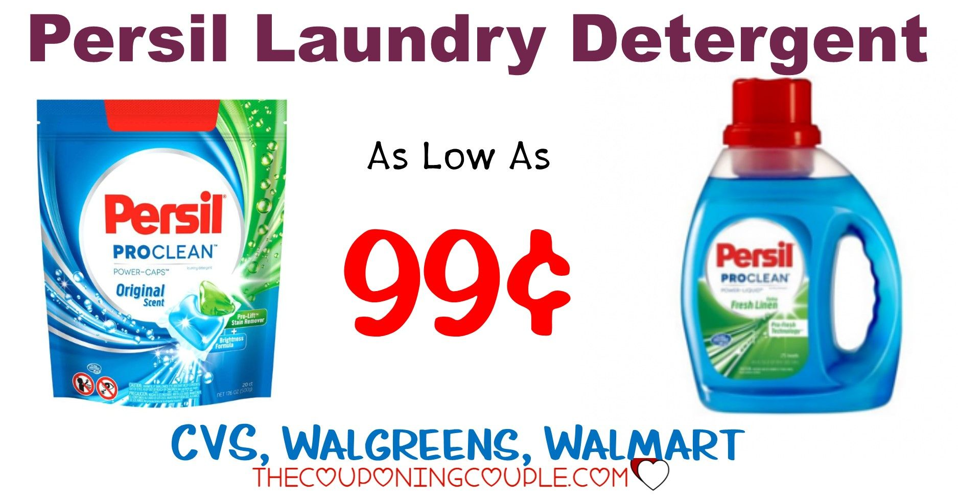Persil Power Caps Or Liquid Detergent Deals As Low As 0 99 With