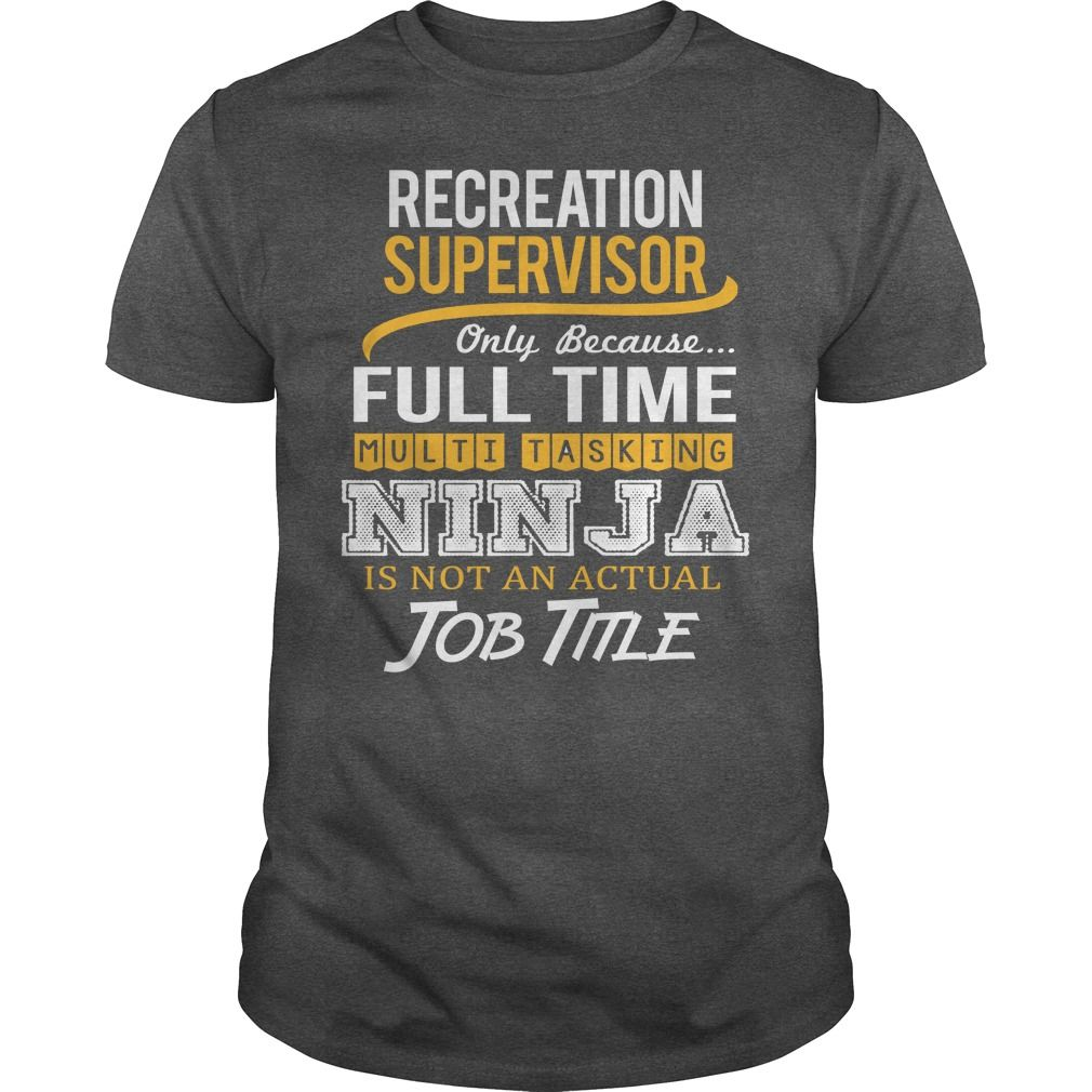 Awesome Tee For Recreation Supervisor T-Shirts, Hoodies. ADD TO CART ==► https://www.sunfrog.com/LifeStyle/Awesome-Tee-For-Recreation-Supervisor-123735690-Dark-Grey-Guys.html?id=41382