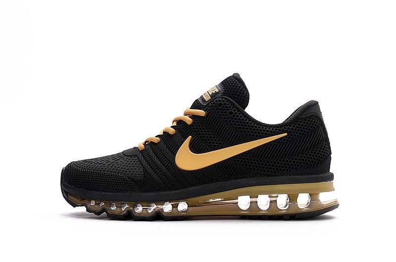big sale 48c62 b8e57 Nike Air Max 2017 Men Shoes Black Gold KPU Shoes Air Max 2017 Bleu, Nike