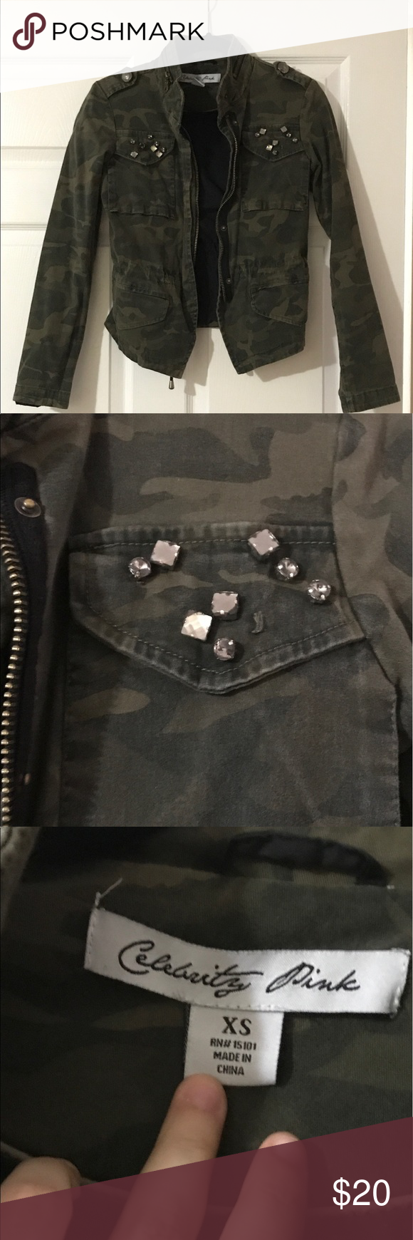 ⭐️FLASH SALE ‼️Celebrity Pink Military Jacket Very Good Quality Jacket                                                                Double Lined; Very Sturdy.                                                              Closure Snaps & Zipper on the Front.                                            Brand For Exposure Missguided Jackets & Coats Jean Jackets