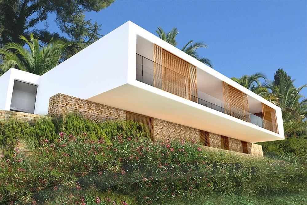 vue dessin architecte rénovation et extension d\'une maison moderne ...