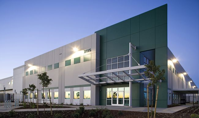 A leed silver certified industrial distribution building for Certified building designer