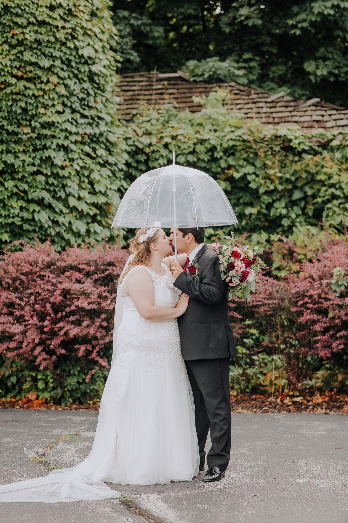 Summer Rainy Wedding Photography Inspiration - Clear Umbrella Photo Ideas