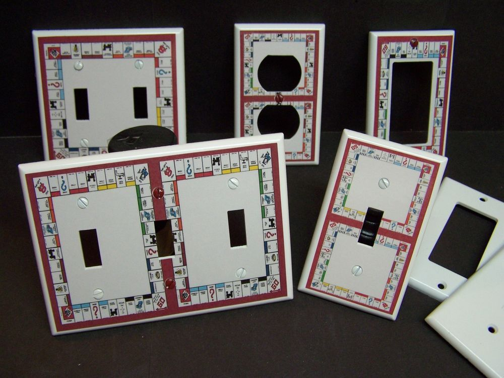 MONOPOLY GAME BOARD LIGHT SWITCH COVER PLATE OR OUTLET COVER