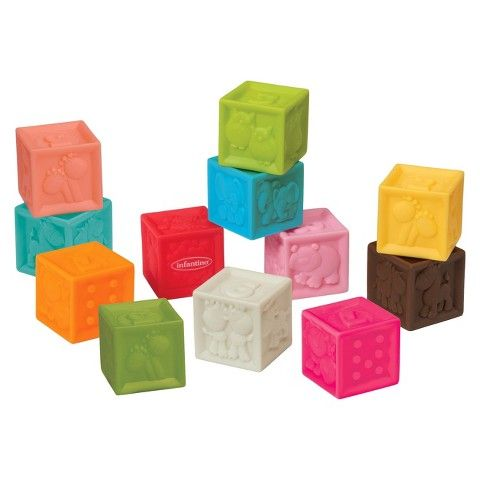 Infantino Go Gaga 12 Piece Block Set Baby Toys Developmental Toys Soft Blocks
