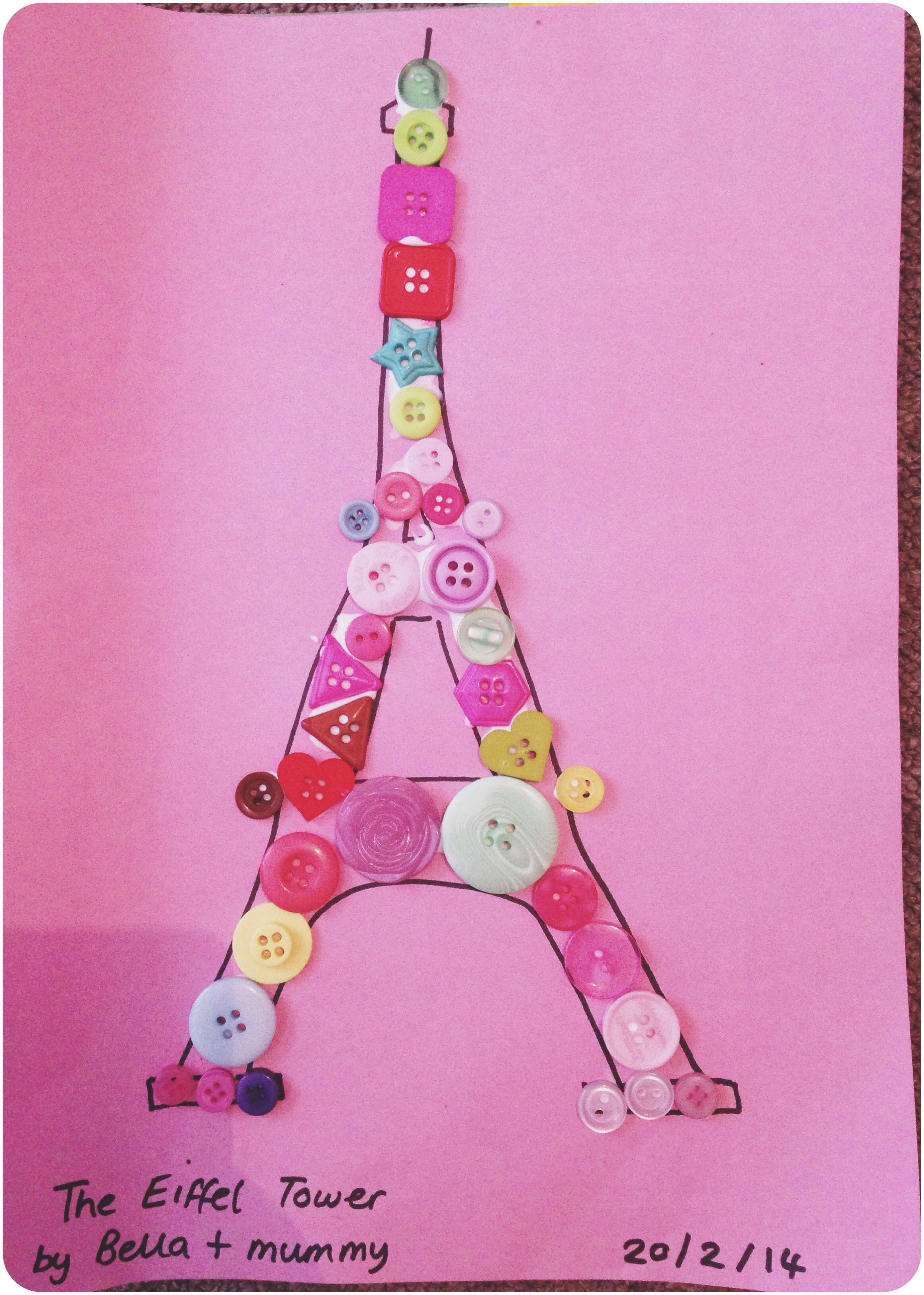 Button Crafts With Bella Eiffel Tower Around The World Crafts
