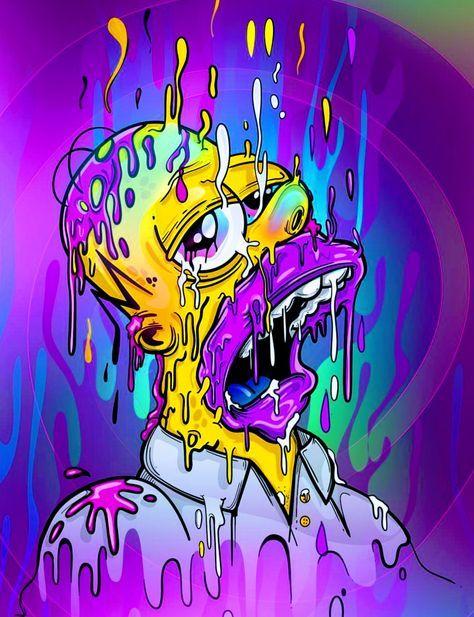 Bart Simpson Trippy Wallpaper : simpson, trippy, wallpaper, Kylee, Newberry, Fundos, Simpsons, Simpson, Trippy, Cartoon