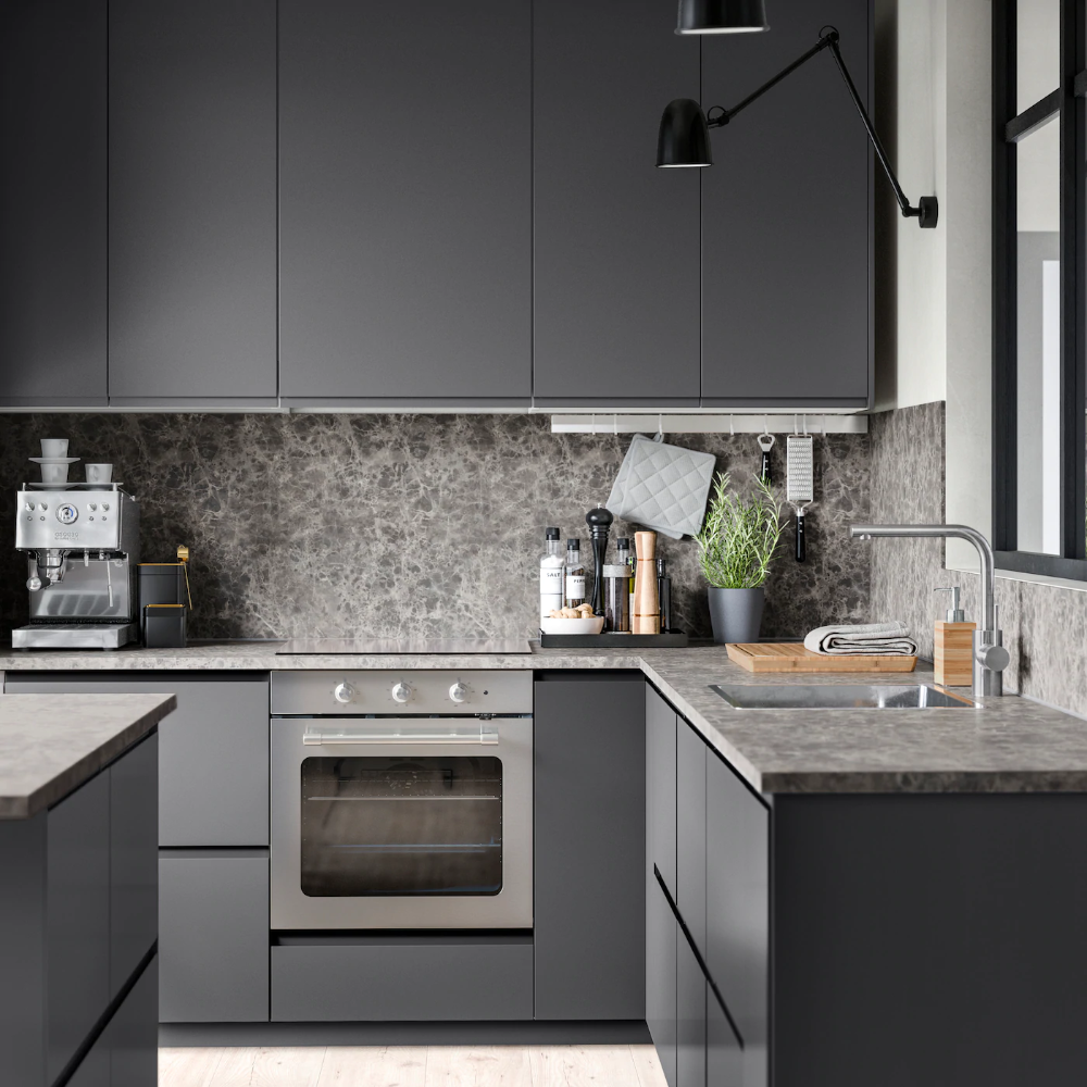 Best Kitchen – Voxtorp Dark Gray – Kitchen Series In Modern 400 x 300