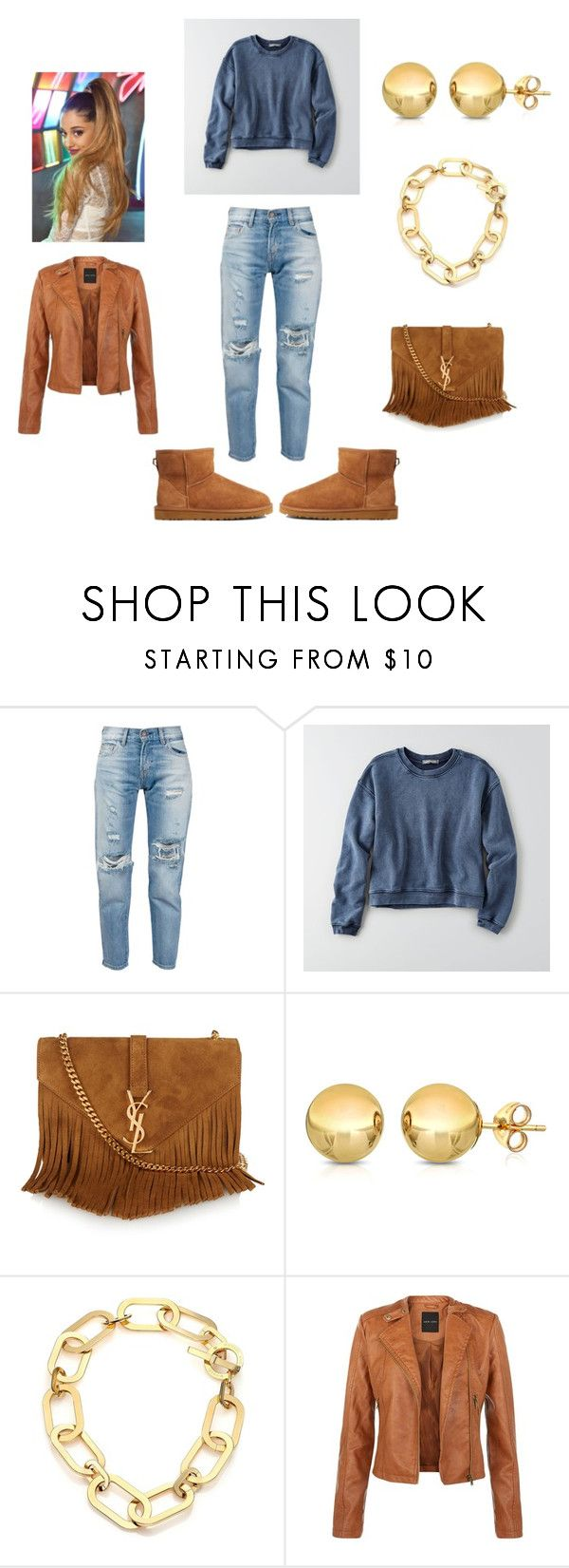 """"""""""" by cockystyles1 ❤ liked on Polyvore featuring Levi's, American Eagle Outfitters, Yves Saint Laurent, Sevil Designs, Michael Kors and UGG Australia"""